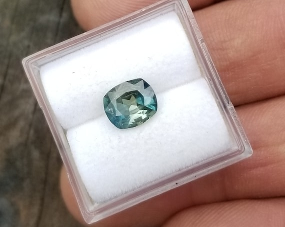 Cushion Multicolor Blue Green Sapphire 1.15Cts