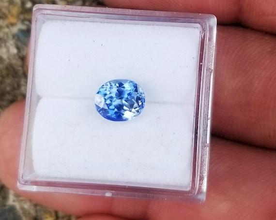 Ceylon Blue Sapphire Oval Shape 6.5 x5.5MM Precision Cut