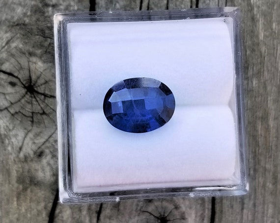 Loose Checkerboard Blue Sapphire 9.3 x 7.1mm Oval