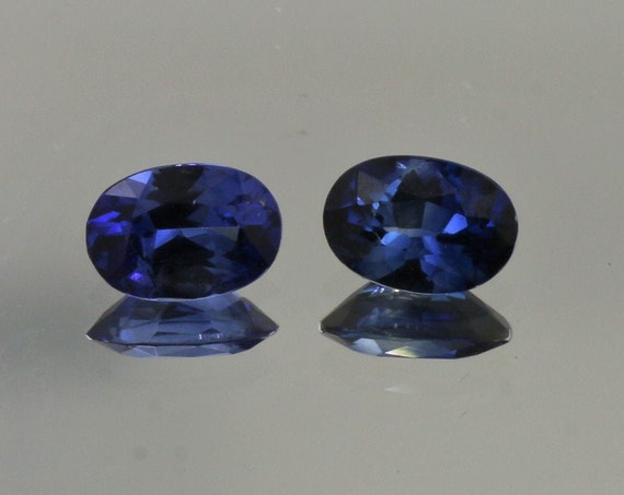 Blue Sapphire Pair for Earrings 1.21cts tw