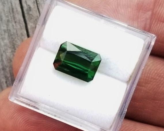 Forest Green Tourmaline 2.57Cts Emerald Cut