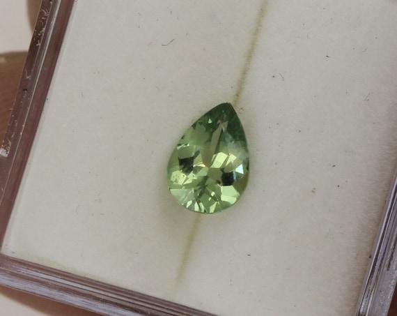 Mint Green Sapphire 0.81cts Pear Shape