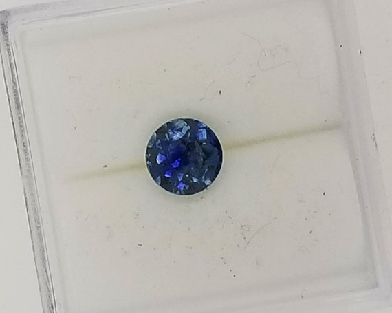 Round Blue Sapphire 0.75 Ct from Montana