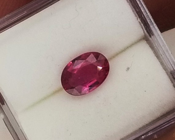 ON HOLD Ceylon Ruby 7.1x5 mm Oval July Gemstone