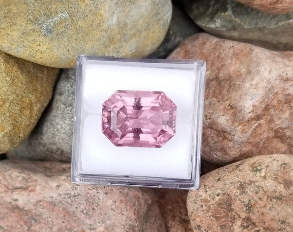 Pink Tourmaline 8.27cts Radiant Emerald Cut