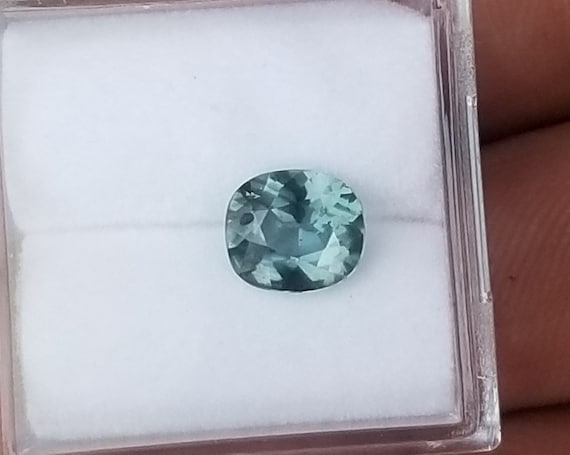 Natural Blue Green Sapphire 7x6.1mm Precision Cut