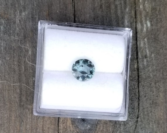 Natural Teal Blue Green Sapphire 6.1 MM Round