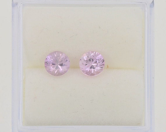 Natural Ice Pink Sapphire Pair 0.91ct tw