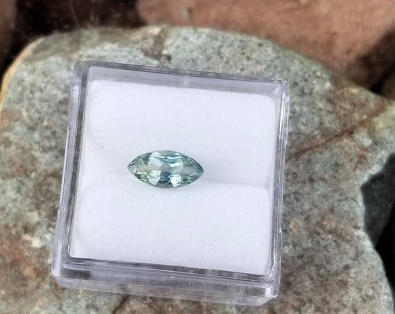 Mint Sapphire 0.96cts Marquise Precision Cut