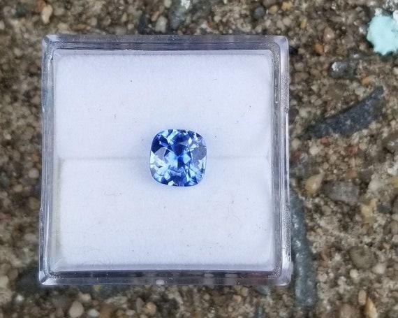 Natural Ceylon Blue Sapphire 5.5 MM Cushion