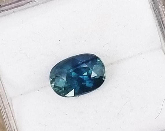Cushion Blue Green Sapphire