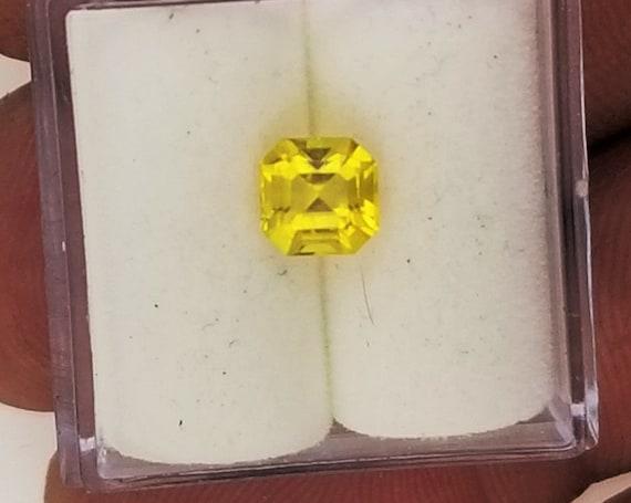 Natural Yellow Sapphire 5.3 mm Square Yellow Diamond Alternative