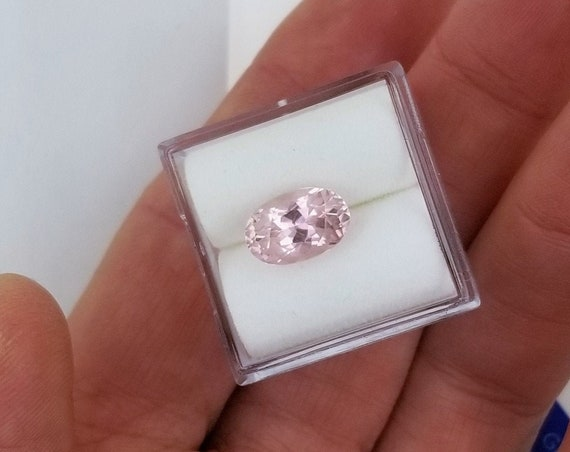 Blush Pink Tourmaline  2.35cts Oval October Birthstone