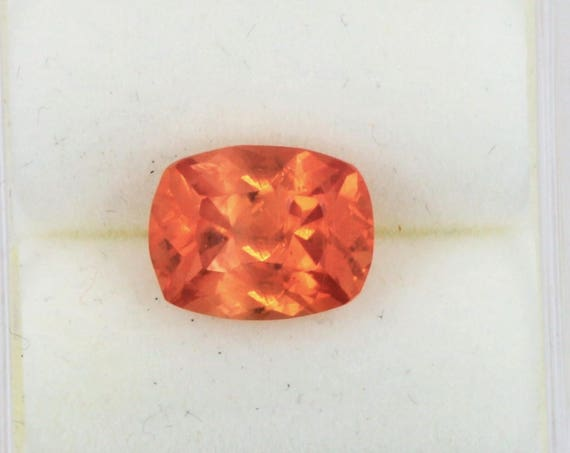Orange Sapphire 2.61 Cts Antique Cushion