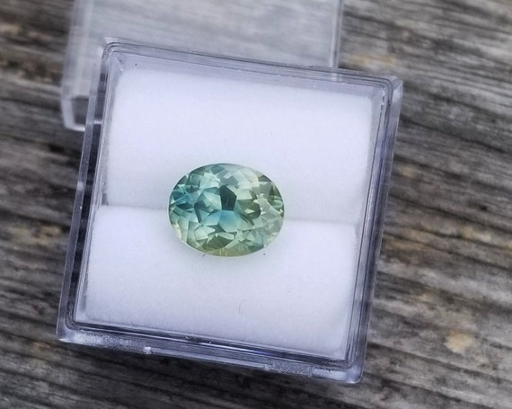 Mint Green Sapphire 9x7.4 MM Oval Natural Gemstone