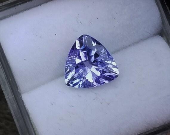Natural Tanzanite 6.9 MM Trilliant Unique Gemstone