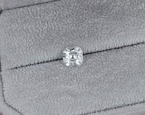 Natural White Sapphire 1.06ct Precision Cut Cushion Shape
