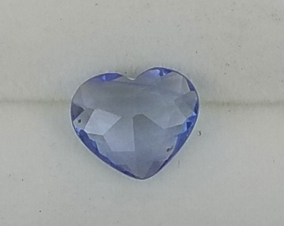Rose Cut Blue Sapphire 0.90ct Heart Shape