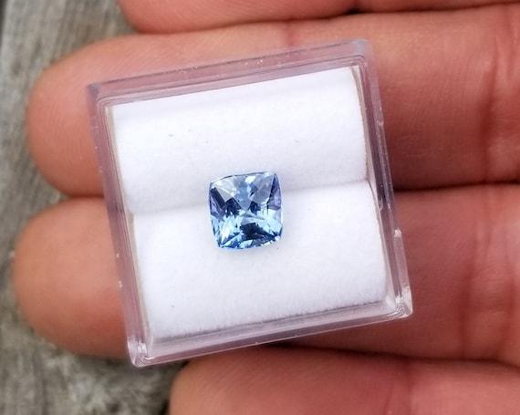 Ceylon Cushion Blue Sapphire 2.05 Cts Precision Cut