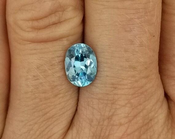 Blue Zircon 2.86cts Oval December Birthstone