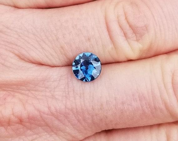 Round Blue Sapphire 7mm. Natural Sapphire