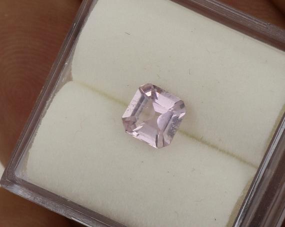 Light Pink Sapphire 5.4 x 5.3mm Asscher Cut