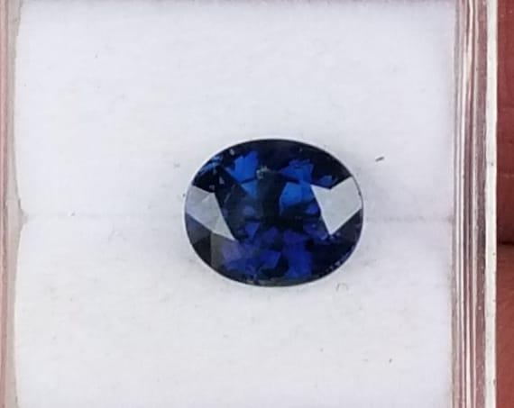 Dark Blue Sapphire 2.58 cts Oval