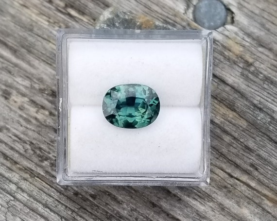 ON HOLD Australian Blue Green Sapphire 9x7 MM Oval 2.20 Cts