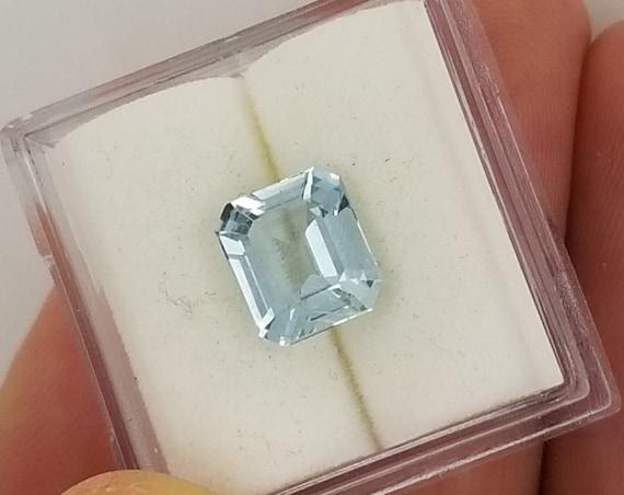 Aquamarine 7.9 x 6.9mm Emerald Cut