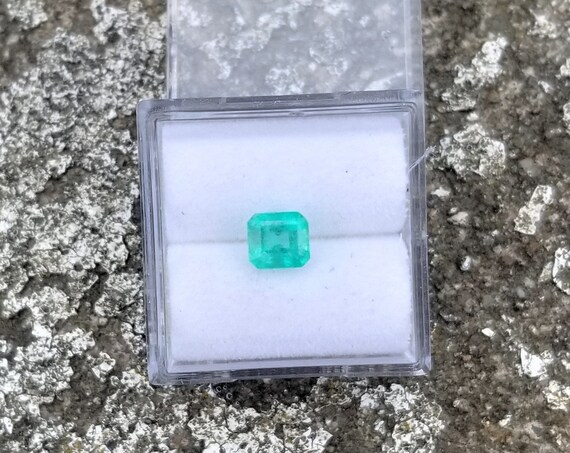 Colombian Emerald 5.3x4.8mm Emerald Cut