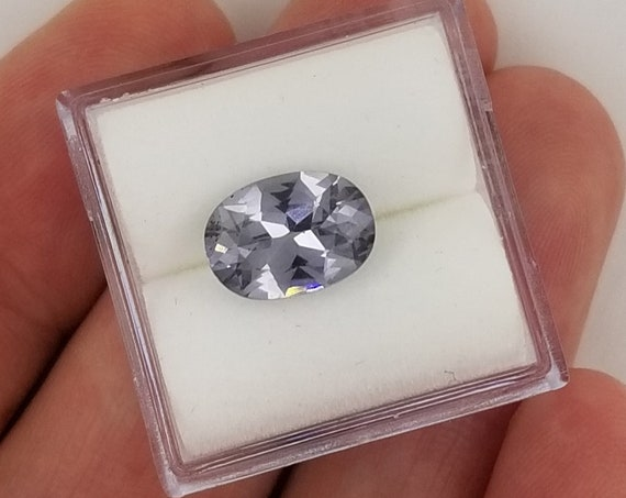 Natural Gray Spinel 10 x 7.1mm Oval