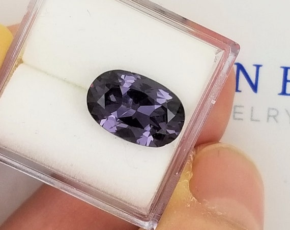 Purple Spinel 11.5 x 7.1mm Oval Precision Cut Gemstone