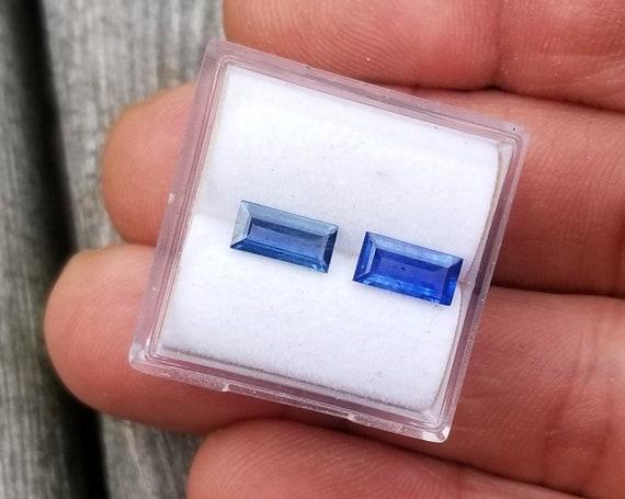 Natural Ceylon Blue Sapphire Pair 7.6x3.6 MM for Earrings