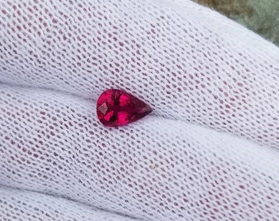 Pink Tourmaline 1.31cts Teardrop