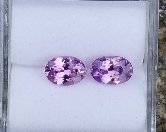 Purple Sapphire Pair 1.59 Cts tw Oval