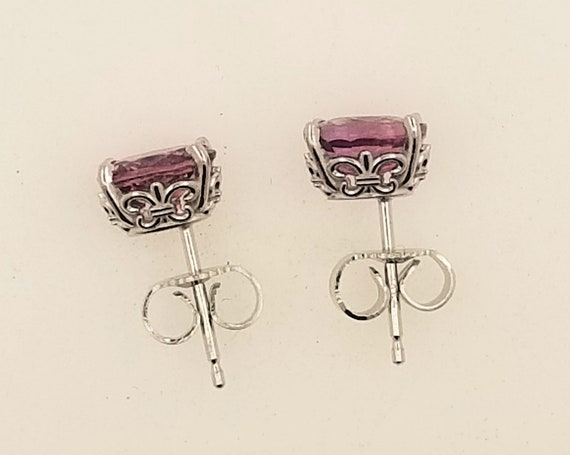 Pink Sapphire 7x5MM Oval Earrings September Birthstone
