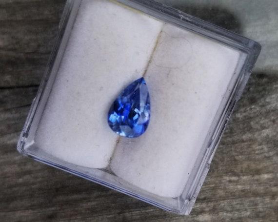 Ceylon Blue Sapphire 8 x 5.3  MM Pear Shape Precision Cut