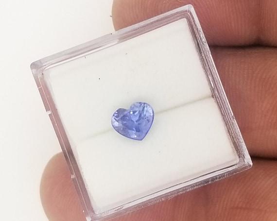 Heart Shape Lavender Blue Sapphire for Pendant