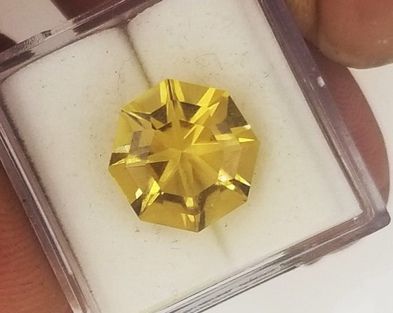 Hexagon Citrine Over 4 Carats  November Birthstone