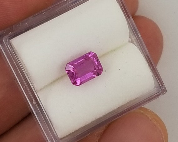 Emerald Cut Pink Sapphire 1.56cts