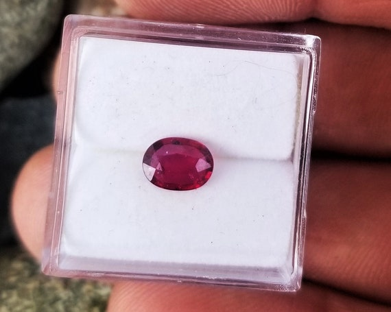 Ethical Ruby 6.6x4.8 mm Oval July Birthstone
