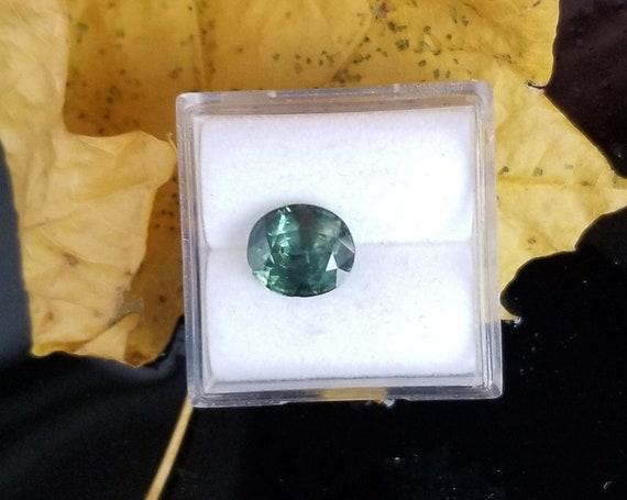Naturl Blue Green Sapphire 8.5x7.4 MM Oval