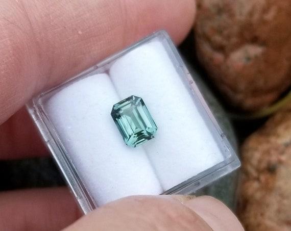 Emerald Cut Teal Sapphire 1.60cts