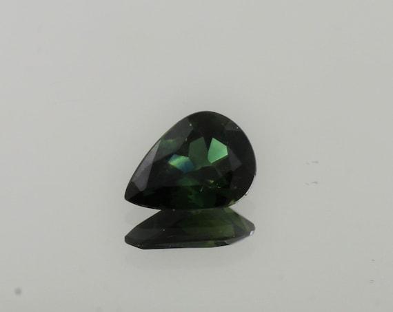 Blue Green Sapphire 1.06cts Pear Shape