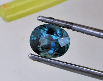 Blue Green Sapphire 1.42 Carats 7x5.8mm September Birthstone