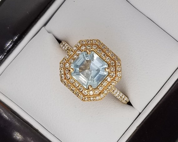 Aquamarine 14K Rose Gold Engagement Ring