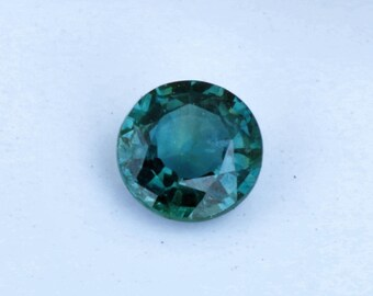Loose Ceylon Blue Green Sapphire 4.3 MM Round Natural Gemstone