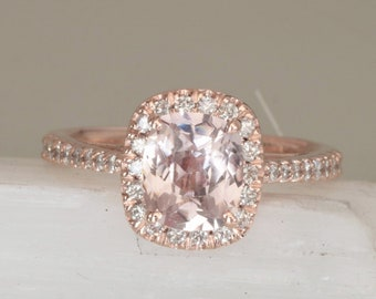 Rose Gold Engagement Ring Etsy