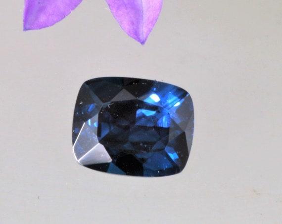 Natural Blue Sapphire Precision Cut 1.38 Cts