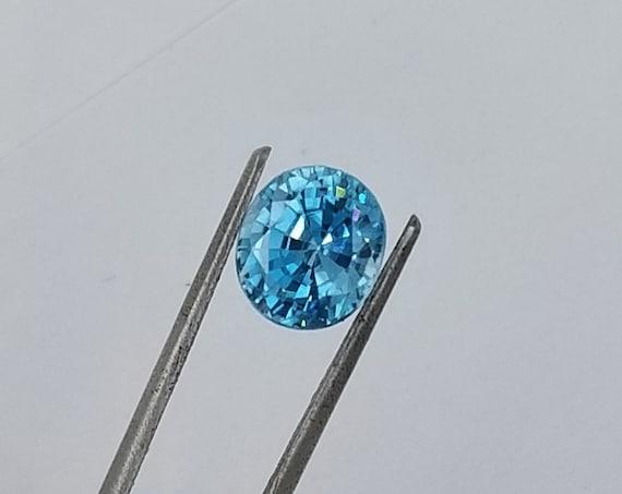 Blue Zircon 4.02cts December Birthstone
